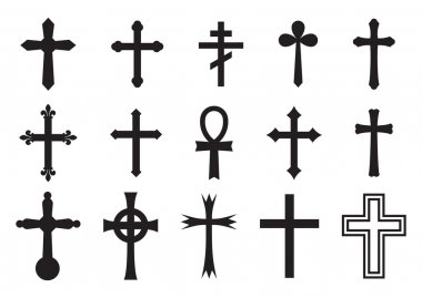 Vector illustration of the crosses