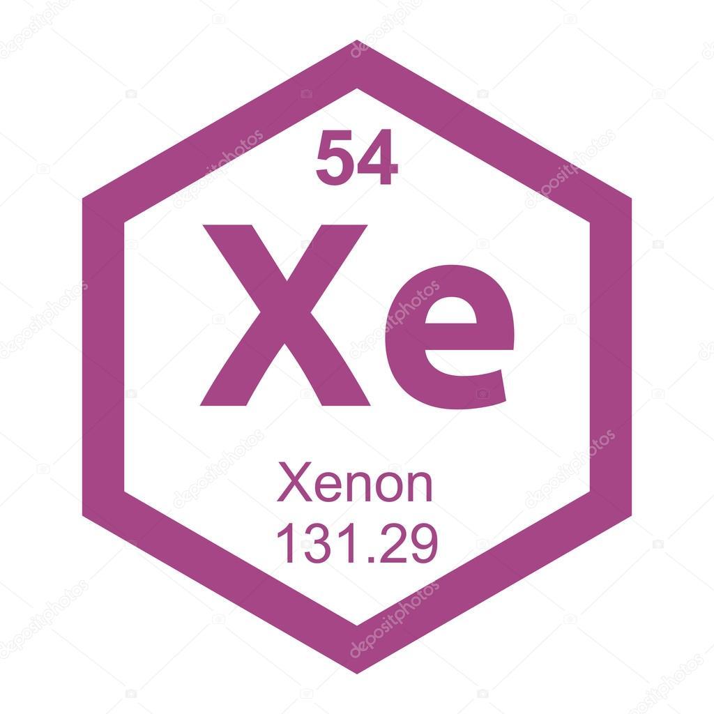 Xenn de elemento de tabla peridica vector de stock xenn de elemento de tabla peridica vector de stock urtaz Gallery