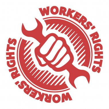 Vector illustrations of the workers' rights