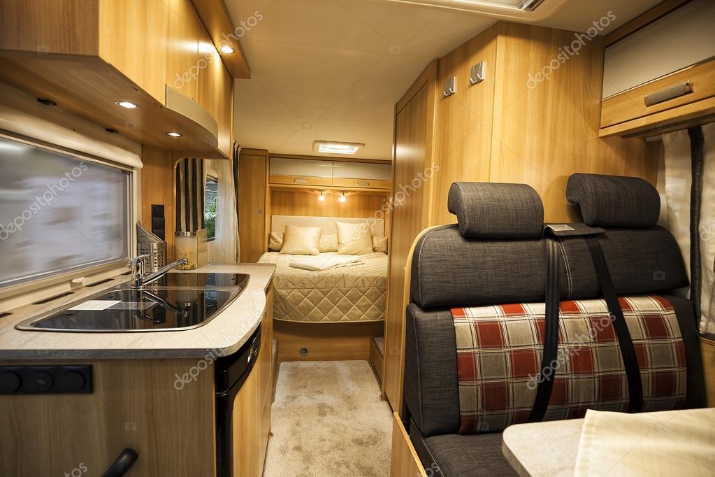 interieur van luxe camper stockfoto