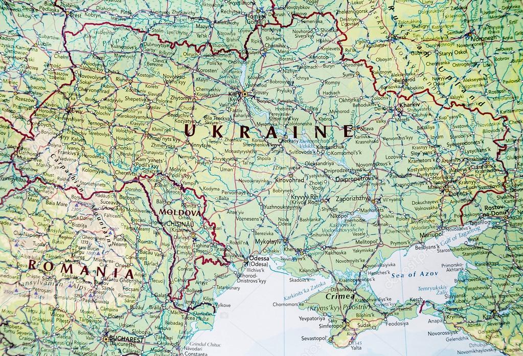carte de l'ukraine — Photographie Banoart © #62111447