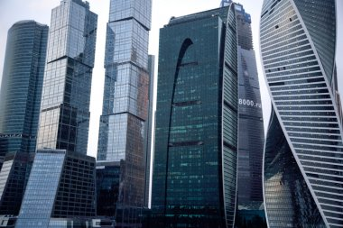 "Картина, постер, плакат, фотообои ""View business center Moscow city"", артикул 62041613"