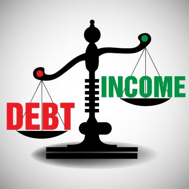 Debt and income scale