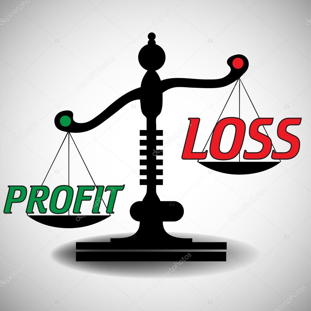 profit and loss scale stock vector oxlock 55257471