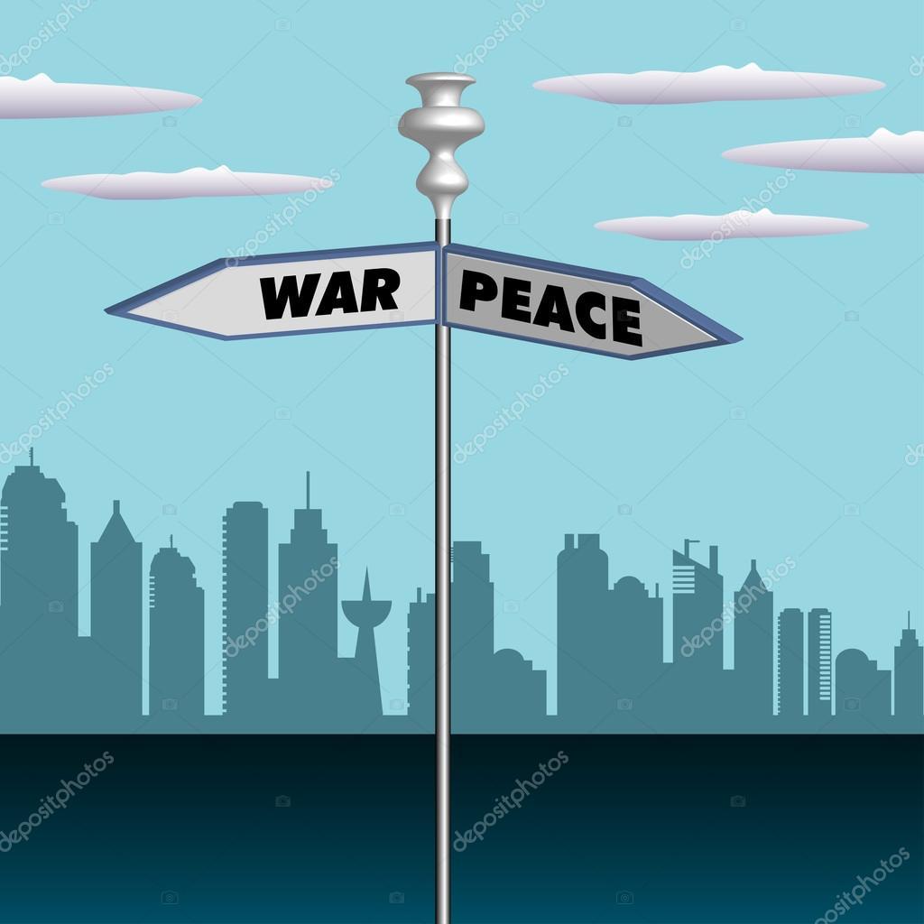 Citaten Oorlog En Vrede : Oorlog en vrede — stockvector oxlock