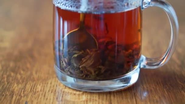 Movement of tea leaves