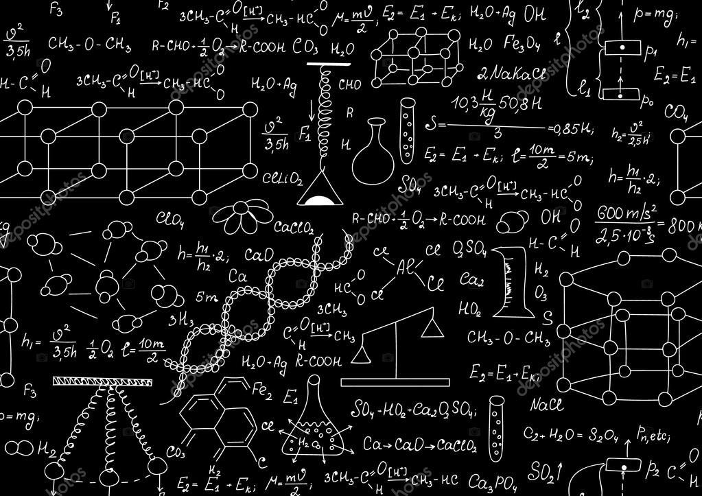 Wissenschaftliche Vektor nahtlose Muster mit chemischen und ...