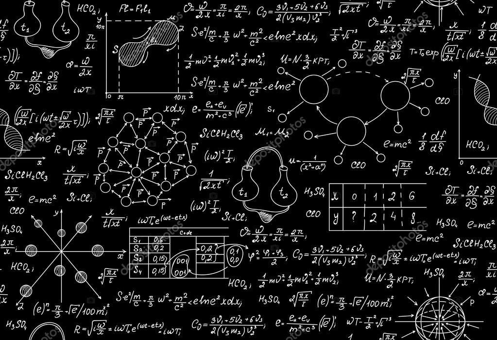 Wissenschaftliche Vektor endlos Textur mit chemischen und ...