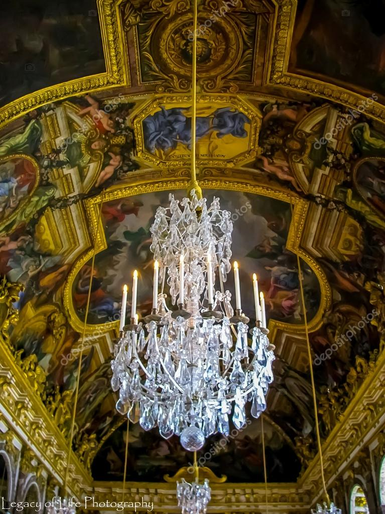 Hall Of Mirrors Palace Of Versailles Versailles France Stock