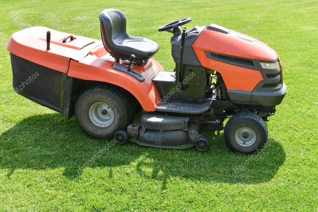lawn mower on the field