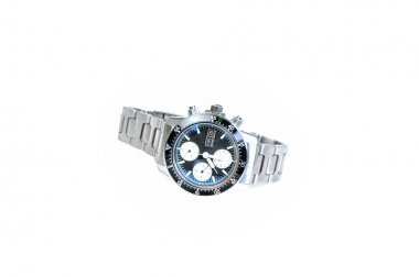 automatic wristwatch on a white background