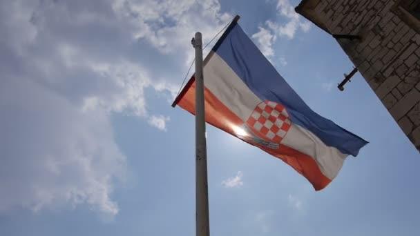 Vlajka Chorvatska foukání