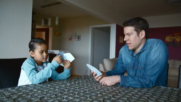 Apa és lánya játékkártyák
