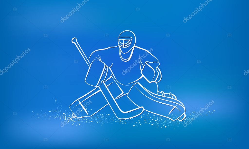Hockey Goalie Sports Background Stock Vector C Leo Troyanski