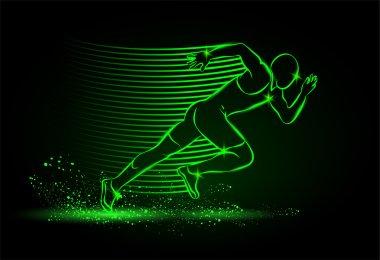 Neon running man