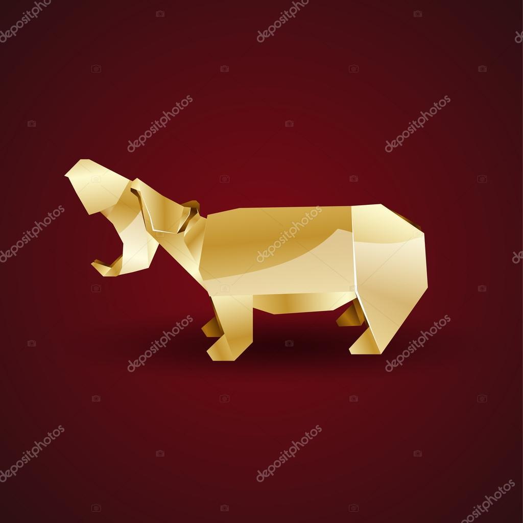 Origami Hippo (Jose Herrera) - Paper Folding / Papier Falten ... | 1024x1024