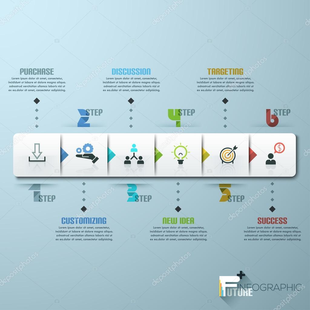 ビジネス タイムライン インフォ グラフィック テンプレート ストック