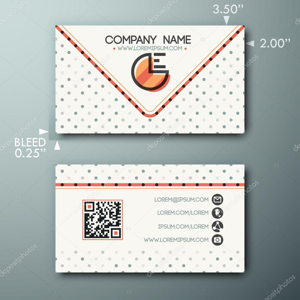 Modern simple vintage business card template with little circle and modern simple vintage business card template with little circle and icons stock vector colourmoves