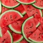 Pozadí čerstvý zralý meloun řezů