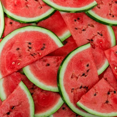 Background of fresh ripe watermelon slices