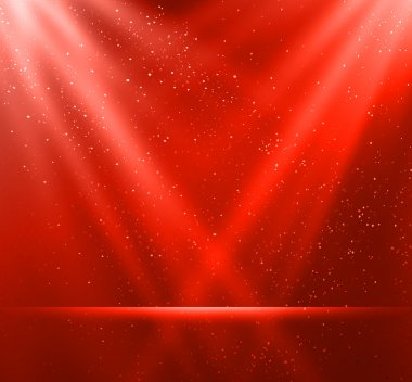 Vector  illustration Abstract magic red light background stock vector