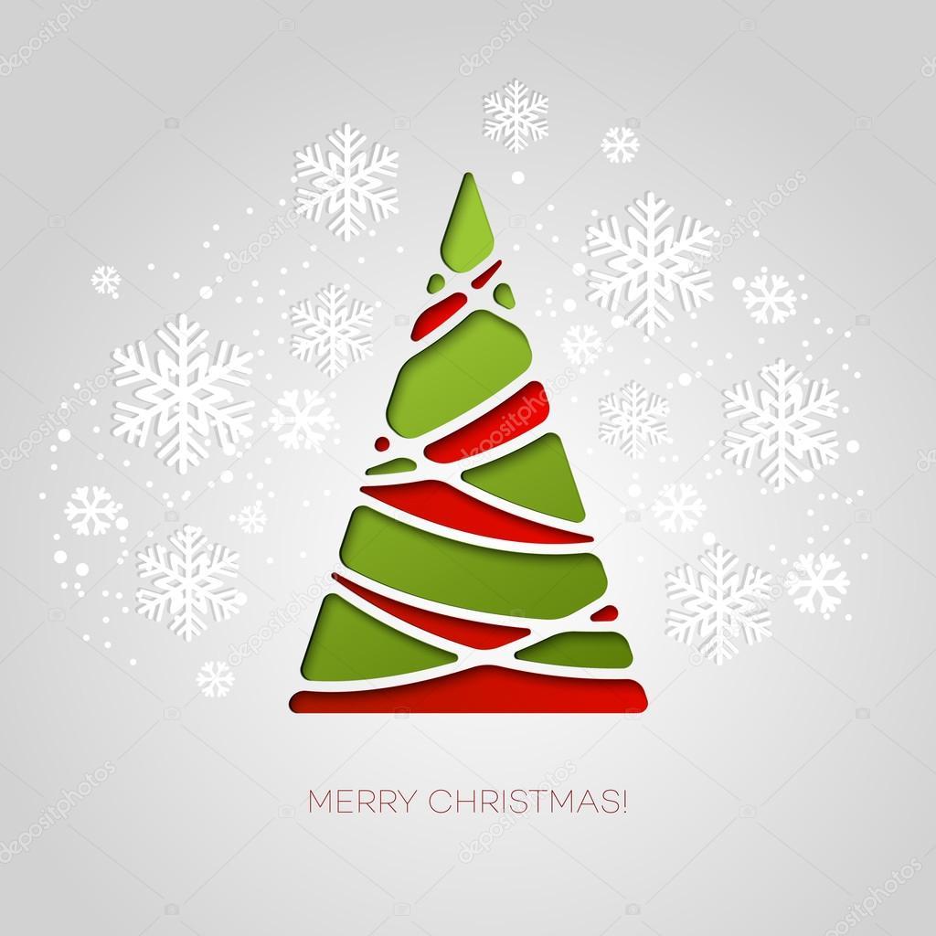 Vector Alberi Natale Tarjeta De Felicitacion Feliz Arbol De - Arbol-navidad-diseo