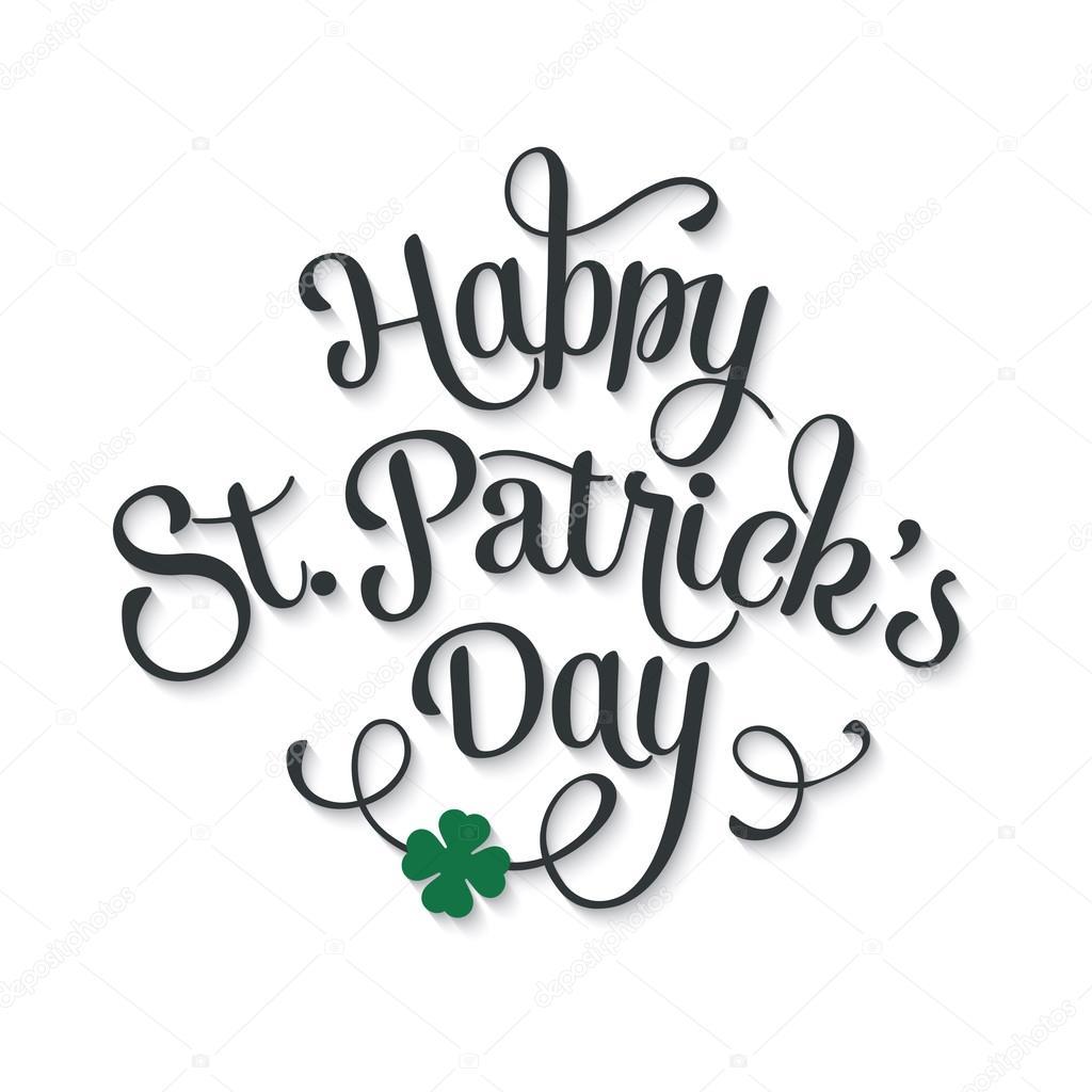 Typographic Saint Patricks Day Greeting Card