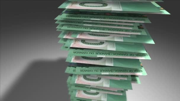 Stapel von 20 kanadischen Dollarnoten