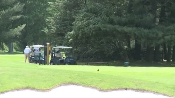 Golf-Carts geparkt