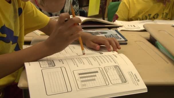 School children doing classwork (5 of 8)