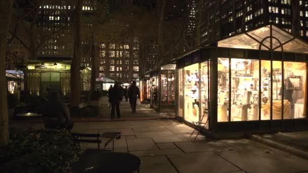 New York City parku v noci