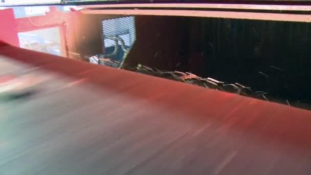 Fast red conveyor belt
