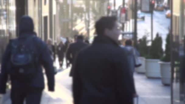 New York-i tömeg az utcán