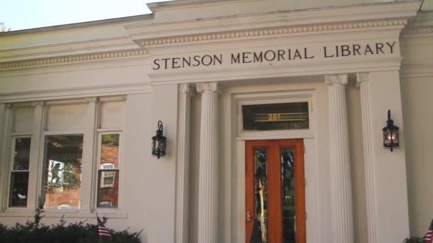 Stenson památník knihovna navržená studiem architektky a hodiny