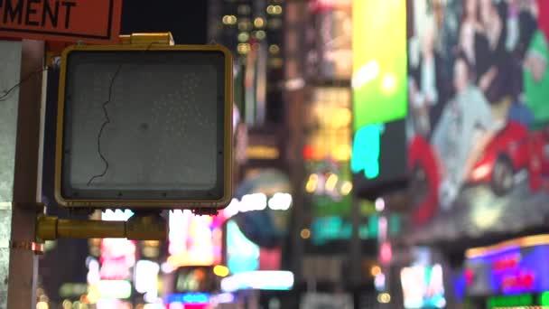 Times Square crosswalk sign