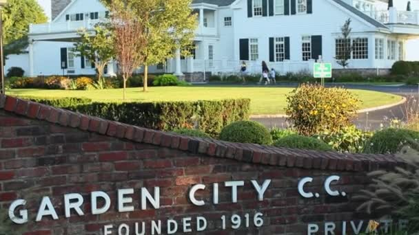 Garden City Country Club Sign (1 Of 2) U2014 Stock Video