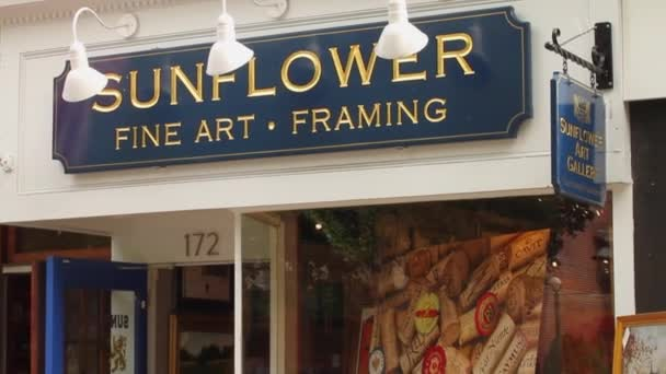Sunflower Fine Art Framing store front — Stock Video © thescenelab ...