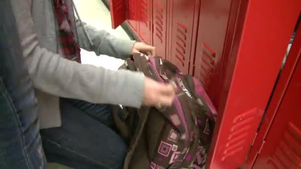 Student empties bookbag (5 of 7)