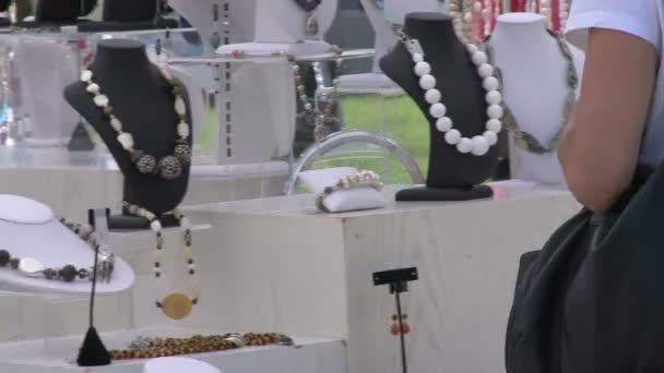 Buying jewelery at Craft Fair (1 of 5)
