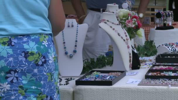 People shopping at a Craft Fair. (1 of 4)-----