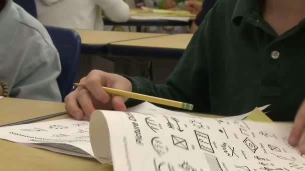 Grammar school students working in class (1 of 3)