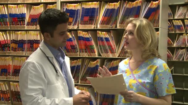 Doctor consults with a medical nurse