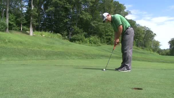 Golfer attempts putt (1 of 2)
