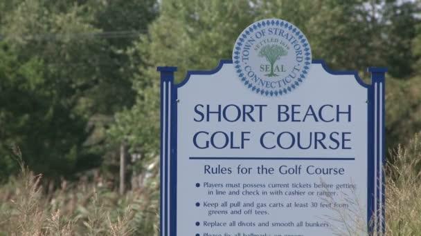 Short Beach Golf Course sign