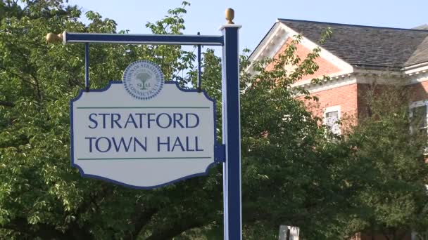 Stratford Town Hall Sign Stock Video C Thescenelab Com 79350268