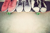 Sneakers and skateboard  park