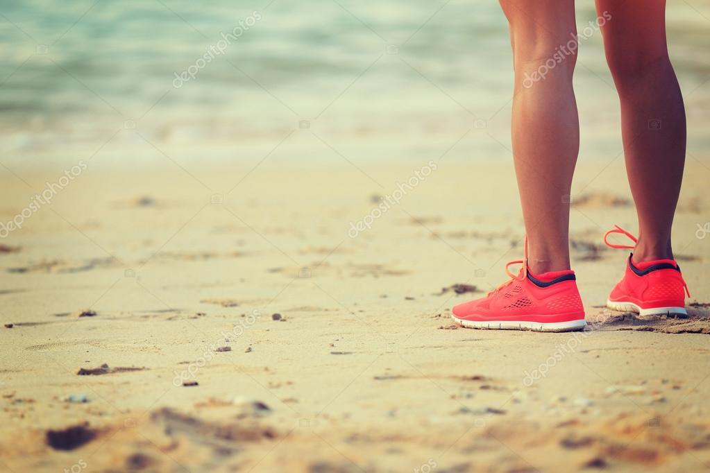 woman runner legs