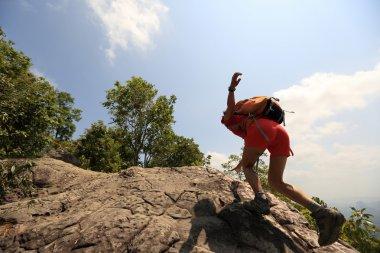 asian woman hiker