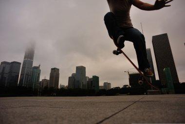 Skateboarder skateboarding outdoor