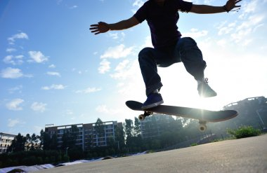 Skateboarder skateboarding outdoor stock vector